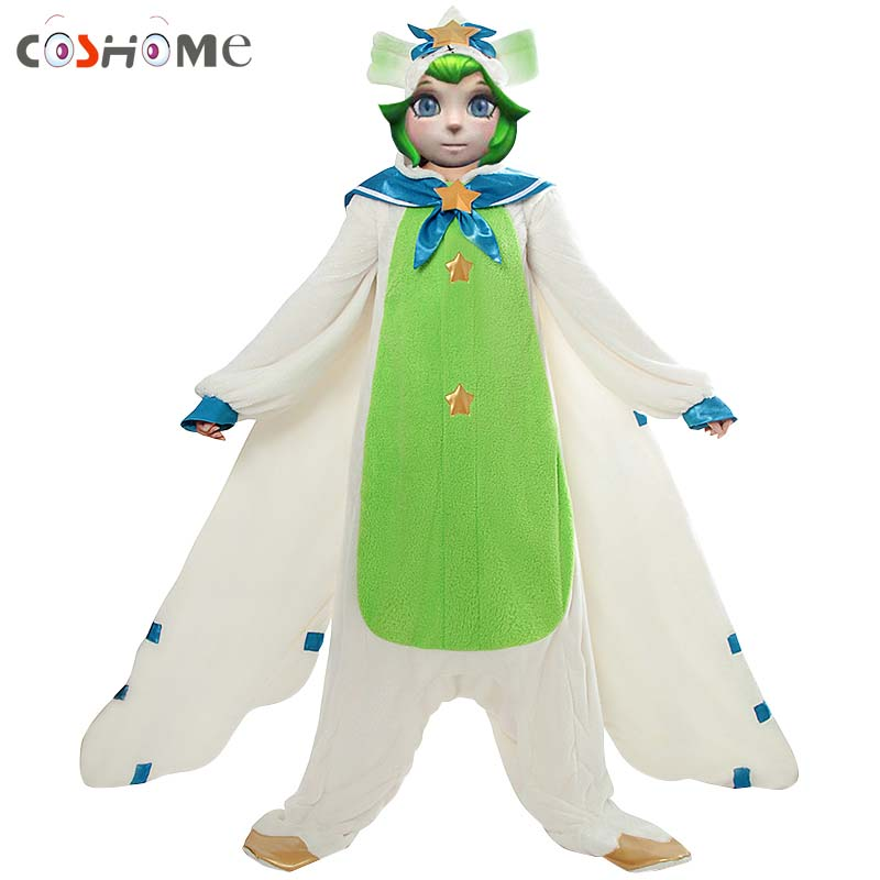 Coshome LOL Lulu Cosplay Costume Women Girls Pajamas Winter Pajama for Halloween Party