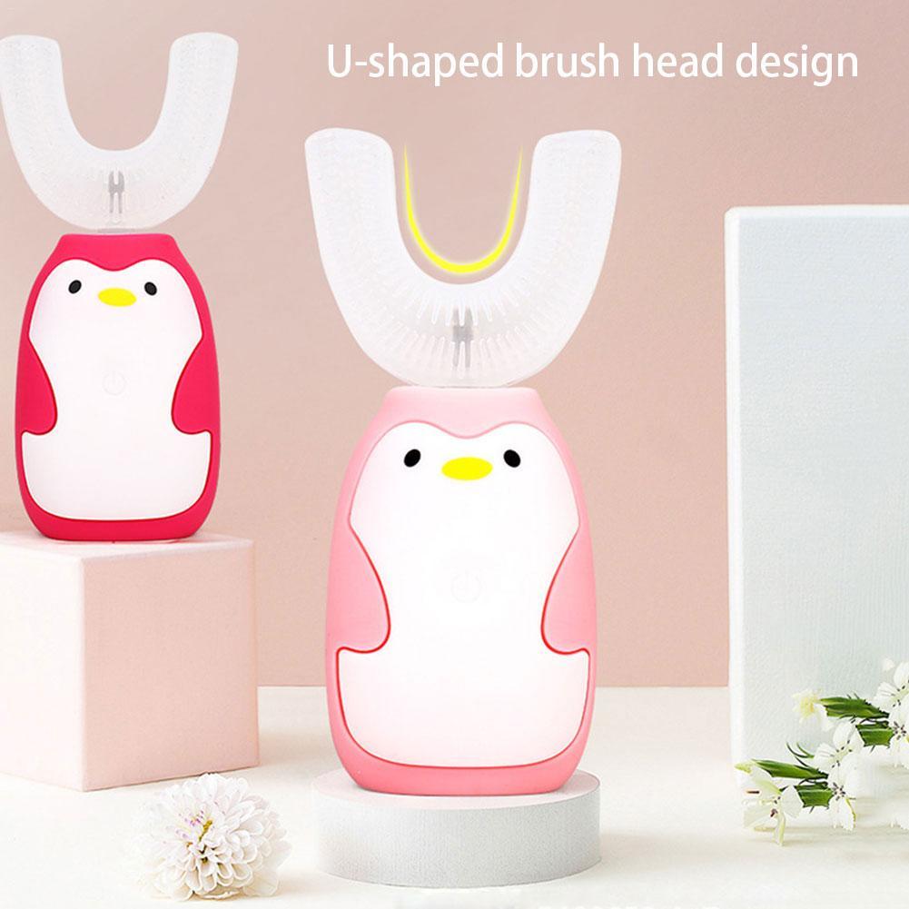 Brosse à dents électrique pour enfants brosse à dents sonique enfant brosse à dents automatique dessin animé USB charge IPX7 brosse à dents étanche