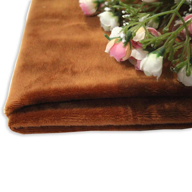 50cm * 160cm kısa peluş kristal süper yumuşak peluş dikiş kumaşı bebek DIY el yapımı ev tekstili kumaş oyuncaklar için peluş kumaş