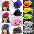Women Flower Hat Hairpin Fascinator Wedding Cocktail Party Hairclip Accessory HATYS0027