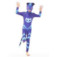 2018 Free Shipping Les Pyjamasques Fantasia Infantil Cosplay PJ Masks Hero Costume Birthday Party Set For
