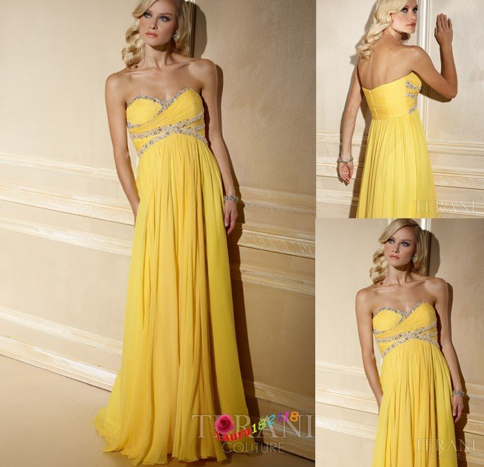 Free Shipping+ Style Yellow Sweetheart Hot Sell Wedding