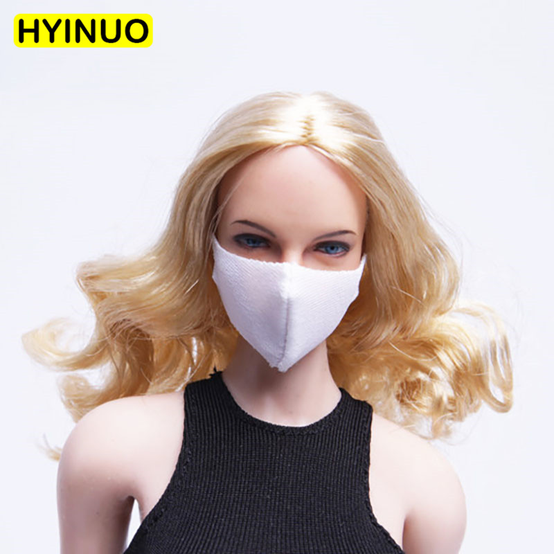 4 Colors Model 1/6 Scale <font><b>Sexy</b></font> mask Women Fashion Multicolor Soft Female Mask Playing Toy for 12