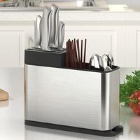 Chopsticks Cutter Fork Box Shovel Spoon Strainer Rack Cutlery Storage Kitchen Stainless Steel Rack