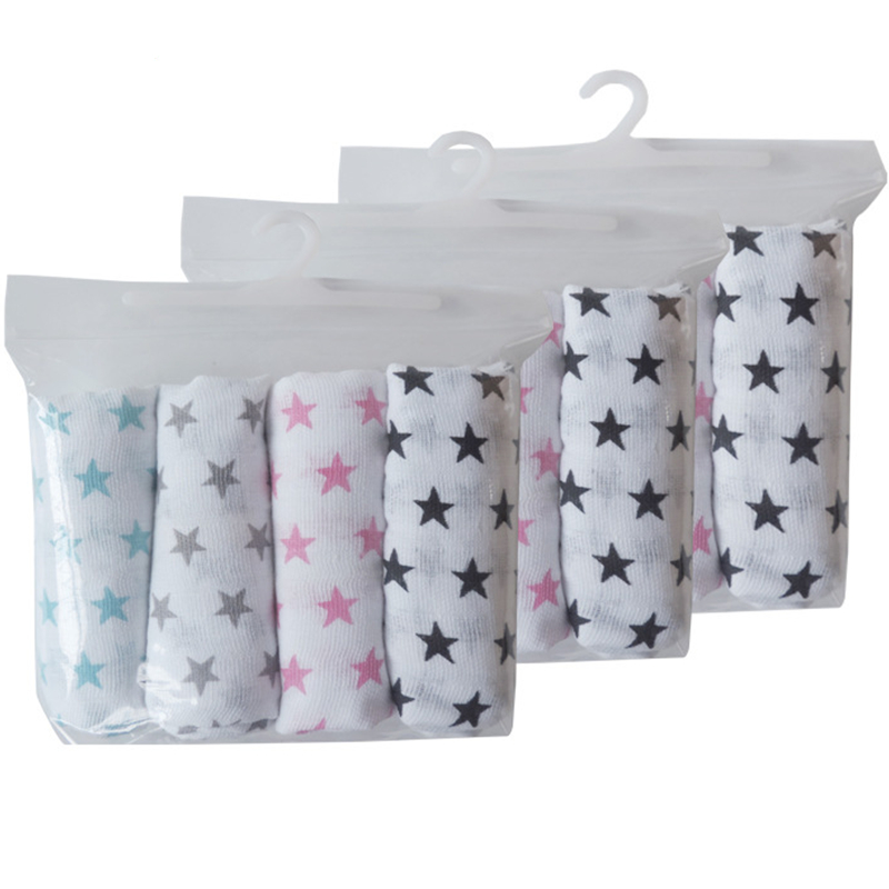4 Pieces Newborn Muslin Diapers Baby Cotton Nappy Reusable Diapers Repeated Use Gauze Cloth Nappies 70*70 Cm