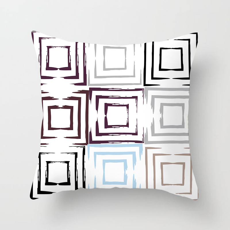 Fuwatacchi Geometric Style Cushion Cover Endless Wave Square Printed Pillow Cover Stripe Decorative Pillows For Sofa Car Seat in Cushion Cover from Home Garden