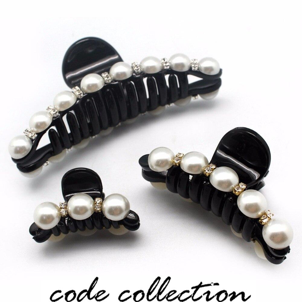 Sombrero colorido perlas horquillas Rhinestone pinza de pelo brillante cangrejo garras de pelo para mujeres niños niña accesorios para el cabello adornos