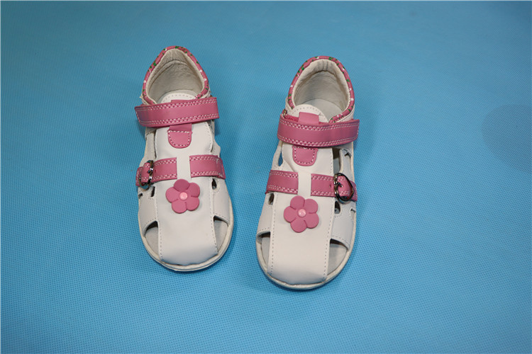 7a83f1725442c8 Toddler girls Summer sandals baby girl leather slippers shoes Flower ...