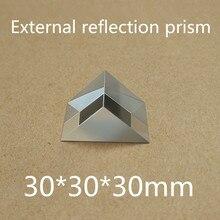 Размер: 30x30x30 мм 30*30*30 мм правый угол K9 треугольный наклон внешний отражающая Призма линза лакировочная с серебряным покрытием