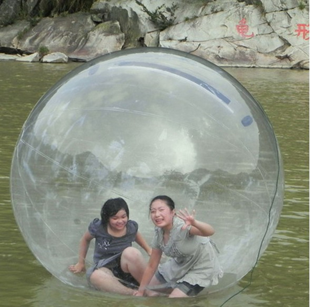 JIA INF 1.8m PVC Inflatable Water Walking Ball waterballs inflatable toy water dance ball environmentally friendly pvc inflatable shell water floating row of a variety of swimming pearl shell swimming ring