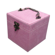 Three Layers Velvet Jewelry Box Ring Necklace Storage Case Flannel Makeup Organizer Women Valentine'S Day Gift Box(China)