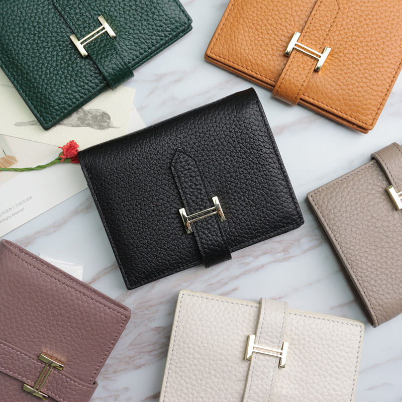 2019 New Genuine Leather Small Mini Ultra-thin Wallets Compact Wallet Handmade Wallet Cowhide Card Holder Short Design Purse