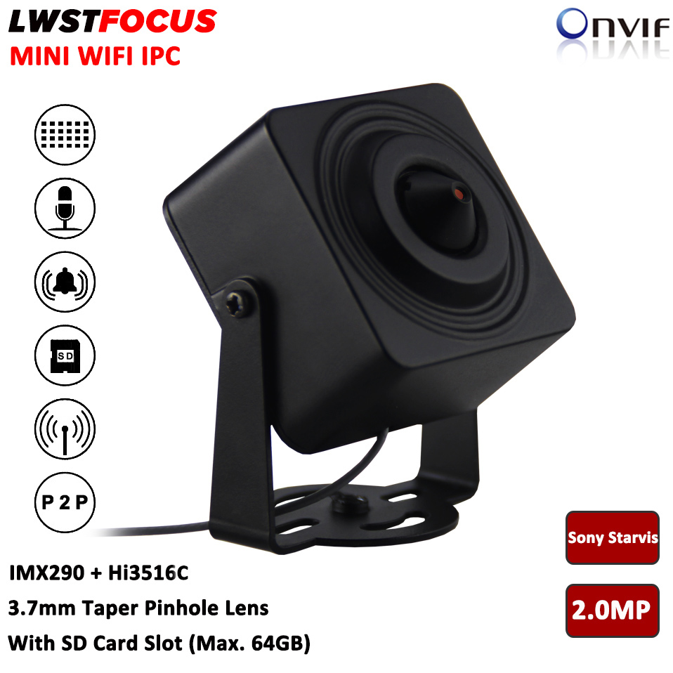 Sony starvis 2mp мини IP Камера конус 3.7 мм объектив 1080 P Wi-Fi IP Камера сети Cam Поддержка 2- путь аудио сигнал SD карты много Max 64 г