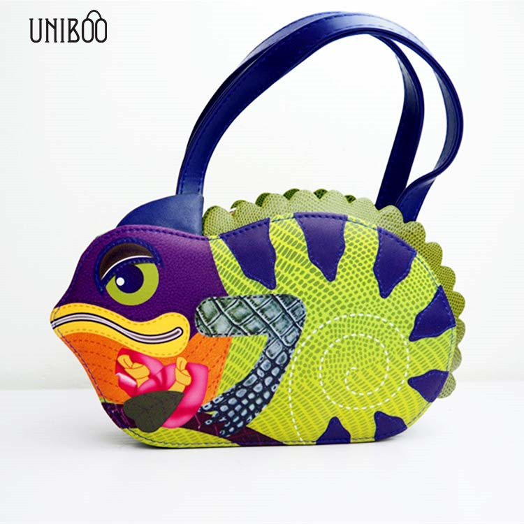 ФОТО Personality women lizard shape tote handbag female small animal shape funny single shouler bag girl unique evening part bag