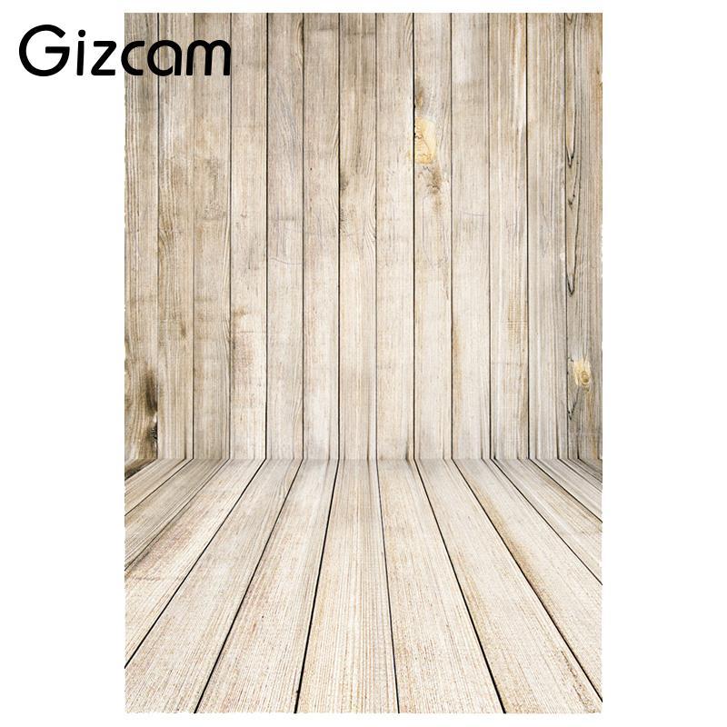 Gizcam 1x1.5M 3x5FT Retro Wood Wall Floor Photography Backdrop Photo Studio Background Children Kids Baby Portrait Shooting