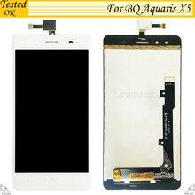 Высокое качество для BQ Aquaris X5 ЖК-дисплей Дисплей с Сенсорный экран планшета Ассамблеи для BQ X5 черно-белый цвет в наличии