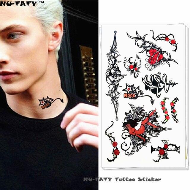 Aliexpresscom Kup Nu Taty Rock N Roll Styl Gwiazda Tymczasowe Tattoo Body Art Arm Flash Tatuaż Naklejki 1710 Cm Wodoodporna Fałszywy Bezbolesne
