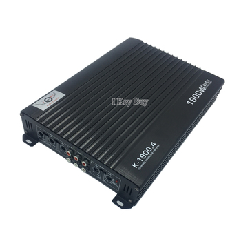 12V Car Audio Amplifier Class AB Style Subwoofer High-Power 1900W 4-Ch 4-Way High-Quality Cars Modification Aluminum Alloy