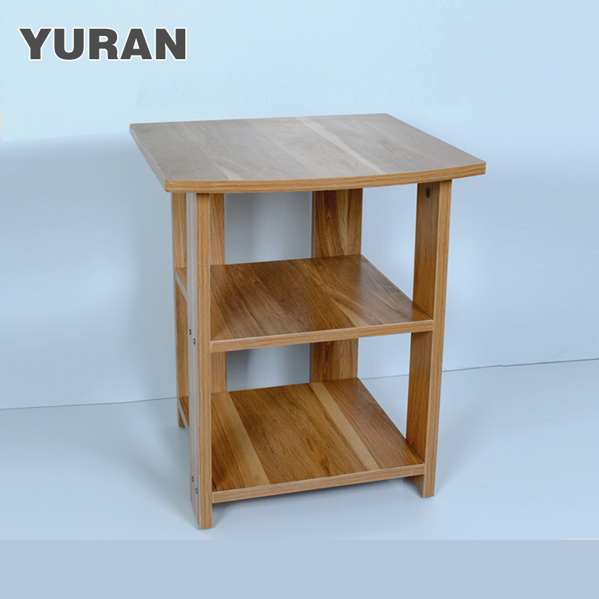 small wooden coffee table fashion simple small square table small table drinking tea microwave bedside shelf sofa table