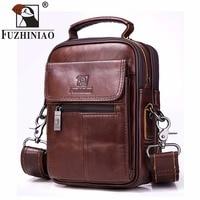 FUZHINIAO New Vintage Fashion Brand Casual Business Mens Bag High Quality Genuine Leather Mens Travel Crossbody Bag Promotion