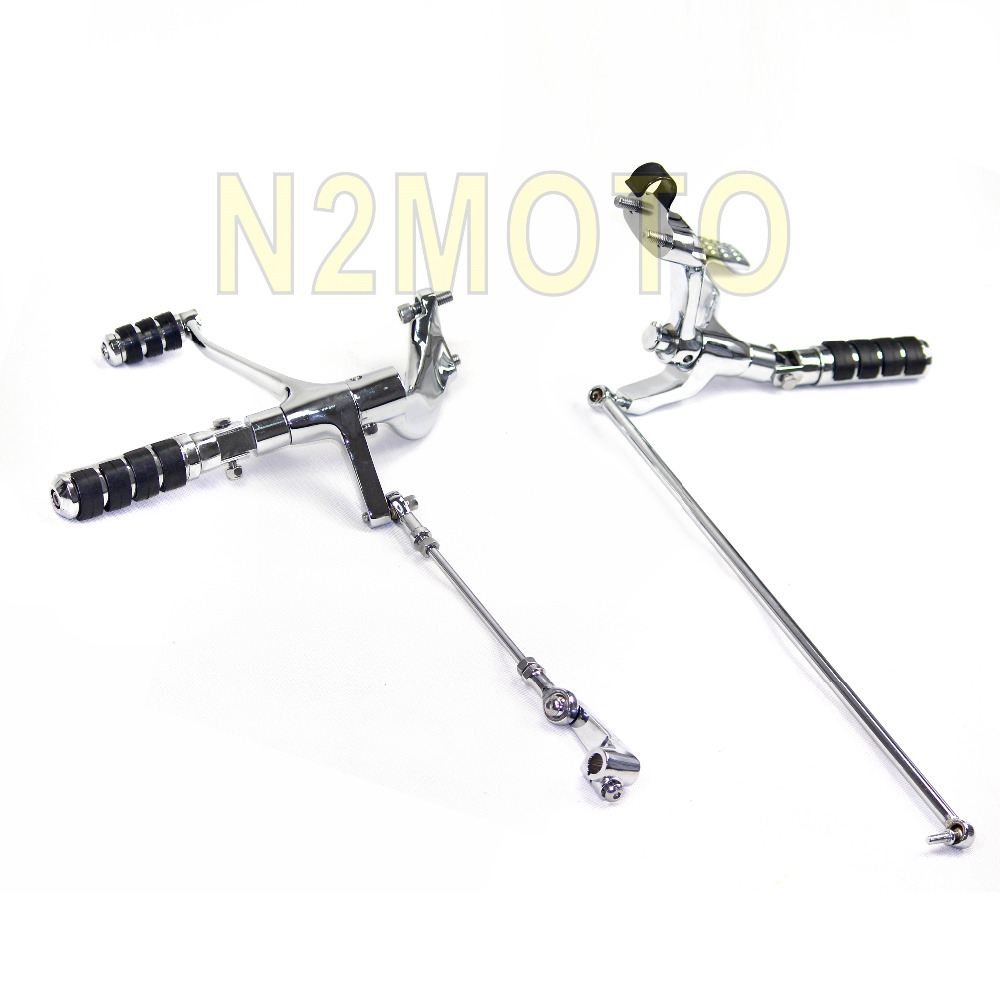 For harley Sportster XL883 1200 Chrome Forward Controls