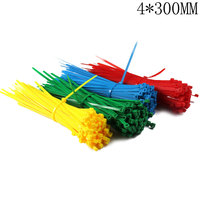 4*300mm Self-Locking Nylon Cable Ties 100Pcs/Pack Colorful Cable Zip Tie Loop Ties For Wires