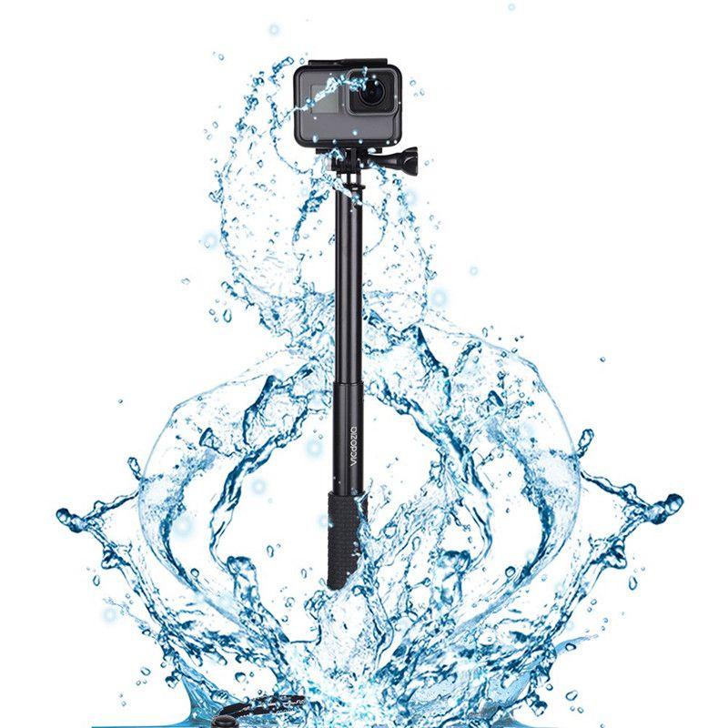 Vara selfie à prova dextendable água aperto de mão extensível monopé pólo ajustável alça para gopro hero 7 6 5 4 sessão sjcam akaso xiaomi