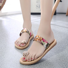 Women Sandals Shoes Summer Open Toe Flat Flip Flops Sandals Loafers Bohemia Shoes Non-slip Soft bottom Beach Shoes Woman Sandals
