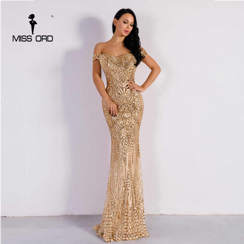 Missord 2019 סקסי חזיית מסיבת שמלת נצנצים מקסי שמלת FT4912