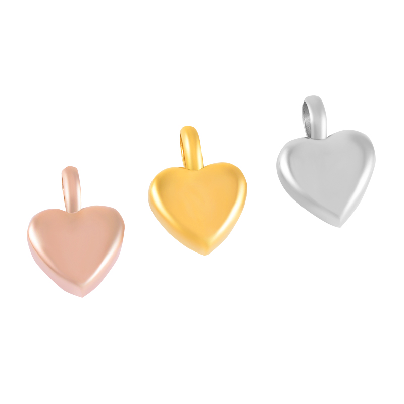 Ija008 Blank Engravbale Small Heart Urn Necklace Ashes Holder