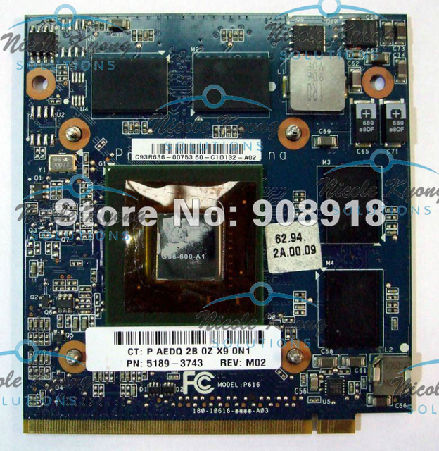 9600M GS 512MB DDR3 MXM VGA Graphics Video card 5189 3743 for HP     9600M GS 512MB DDR3 MXM VGA Graphics Video card 5189 3743 for HP TouchSmart  IQ800