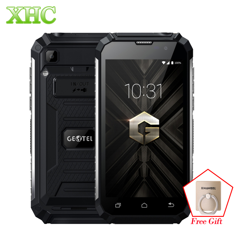 Geotel G1 2GB + 16GB MTK6580A Smartphones À Prova de Choque 7500mAh 5.0 ''Android 7.0 Quad Core 1280x3 WCDMA 720G Telefone Móvel Dual SIM