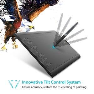 Image 3 - HUION H1060P Graphic Drawing Tablet Battery  free Stylus Tilt ±60° Digital Tablet 8192 Pen Pressure 12 Express Keys OTG Adapter