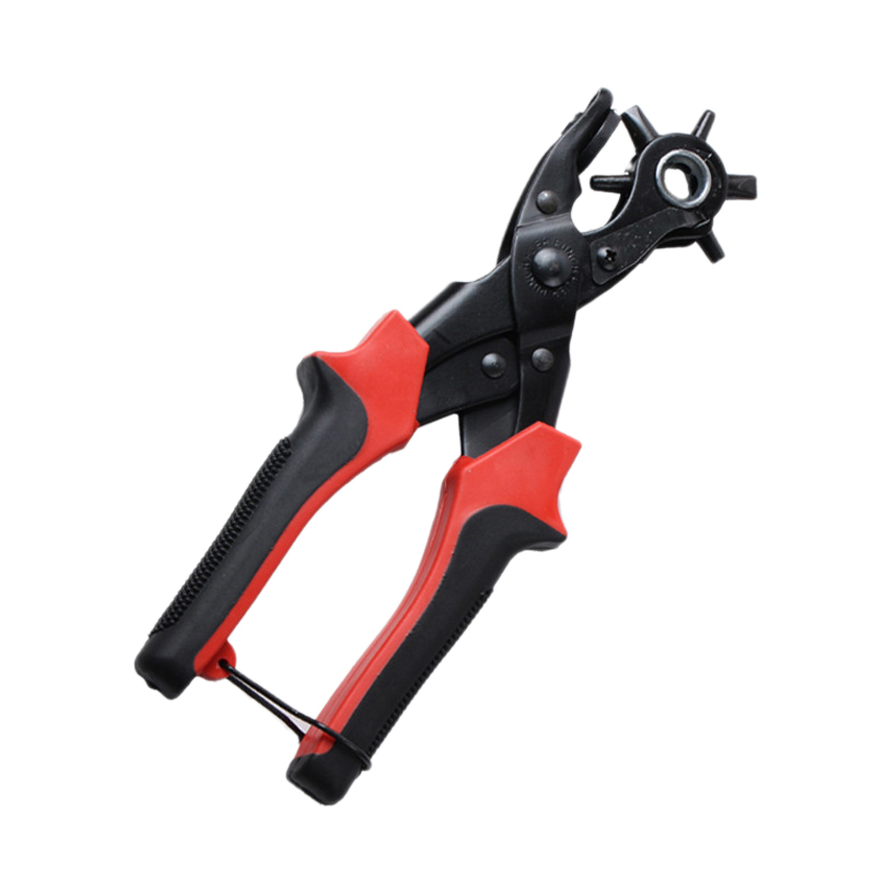 Revolving Punching Stitching Plier Punch Tool Round Hole Perforator For Leather Strap Watch Band Belt Hollow Puncher in Punching from Home Garden