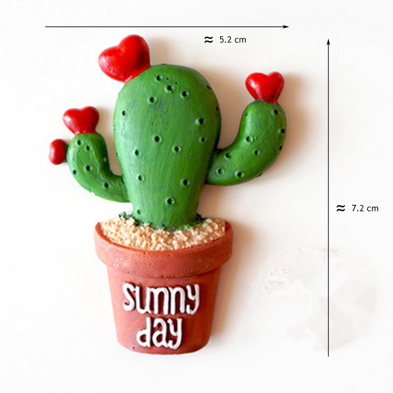 5pcs set cactus plants fridge magnets kawaii cute decorative refrigerator magnetic sticker office supplies household products in clips from office school