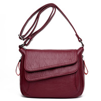 Fashion Solid Genuine Leather Women Messenger Bag Small Shoulder Bags For Women Ladies Handbags Cross Body