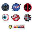 Nasa escudo mishka parche coser o de hierro en la ropa deadpool ghostbusters thumbs up hermandad pac-man fantasmas bordado diy insignia