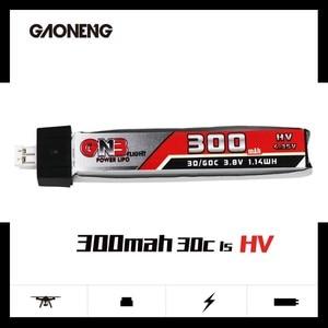 Image 2 - 5PCS GAONENG GNB 1S 300mAh 3.8V 30C 4.35V HV Lipo battery PH2.0 Plug for UK65 US65 Blade Inductrix BetaFPV 65S URUAV UR65 Drone
