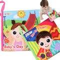 Venda quente 15 cm brinquedo do bebê infantil livro tranquila livros aprendizagem educação toys boneca precoce desenvolvimento pano mordedor bb's brinquedos de presente