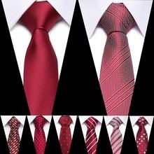 Luxury 7CM Mens Print Pattern Ties for Slim Neckties Polyester Jacquard Skinny Neck Tie Wedding Narrow