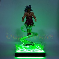 Dragon Ball Z Broly Power Up Fliegende Led Licht Lampe basis Dragon Ball Z Led-licht-lampe Weihnachtsdekor Lampara Led