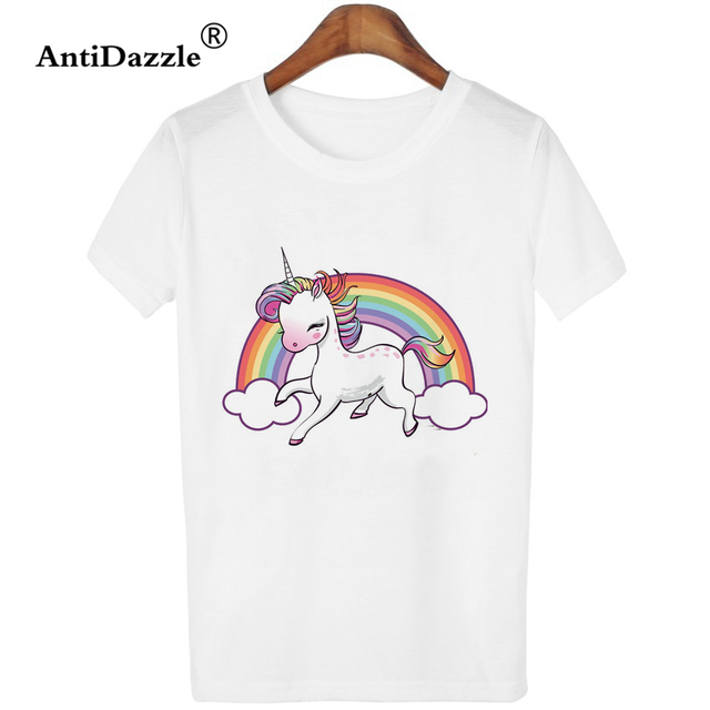 54ce28758 Antidazzle Customize High Quality Women O-neck T shirt Unicorn Squad Funny  T-shirt Creative Casual Printed Tees Tops Shirts