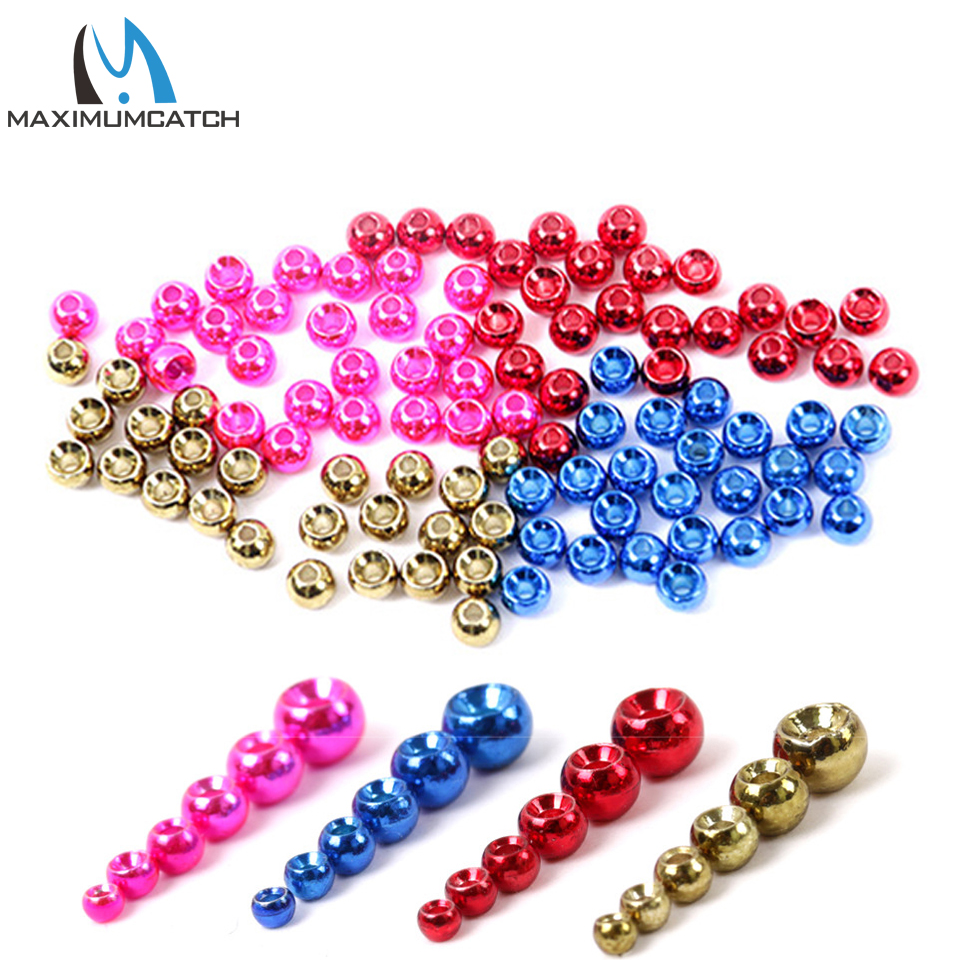 Maximumcatch 25pc 2.0-4.6mm Round/Ball Tungsten Fly Tying Beads Fly Tying Material Multi-Color Fly Fishing Tungsten Beads tungsten alloy steel woodworking router bit buddha beads ball knife beads tools fresas para cnc freze ucu wooden beads drill