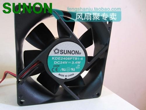 SUNON KDE2408PTB1-6 DC 24V 3.4W server cooling fan 8cm 8025 80x80x25mm 80mm