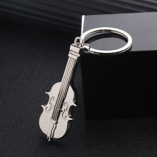 1 PC Fashion Lovely  Violin Keychain Metal Keyring Charm Music Keychain Car Bag Pendant Key Ring Creative Gifts Dropship