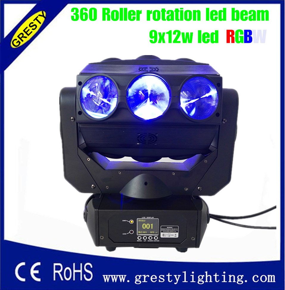 Stage Lighting Effect 4pcs Dj Equipment Mini Led 9x12w Matrix Beam Light Moving Head Rgbw 4in1 Professional Luces For Disco Show Ktv Party Stage