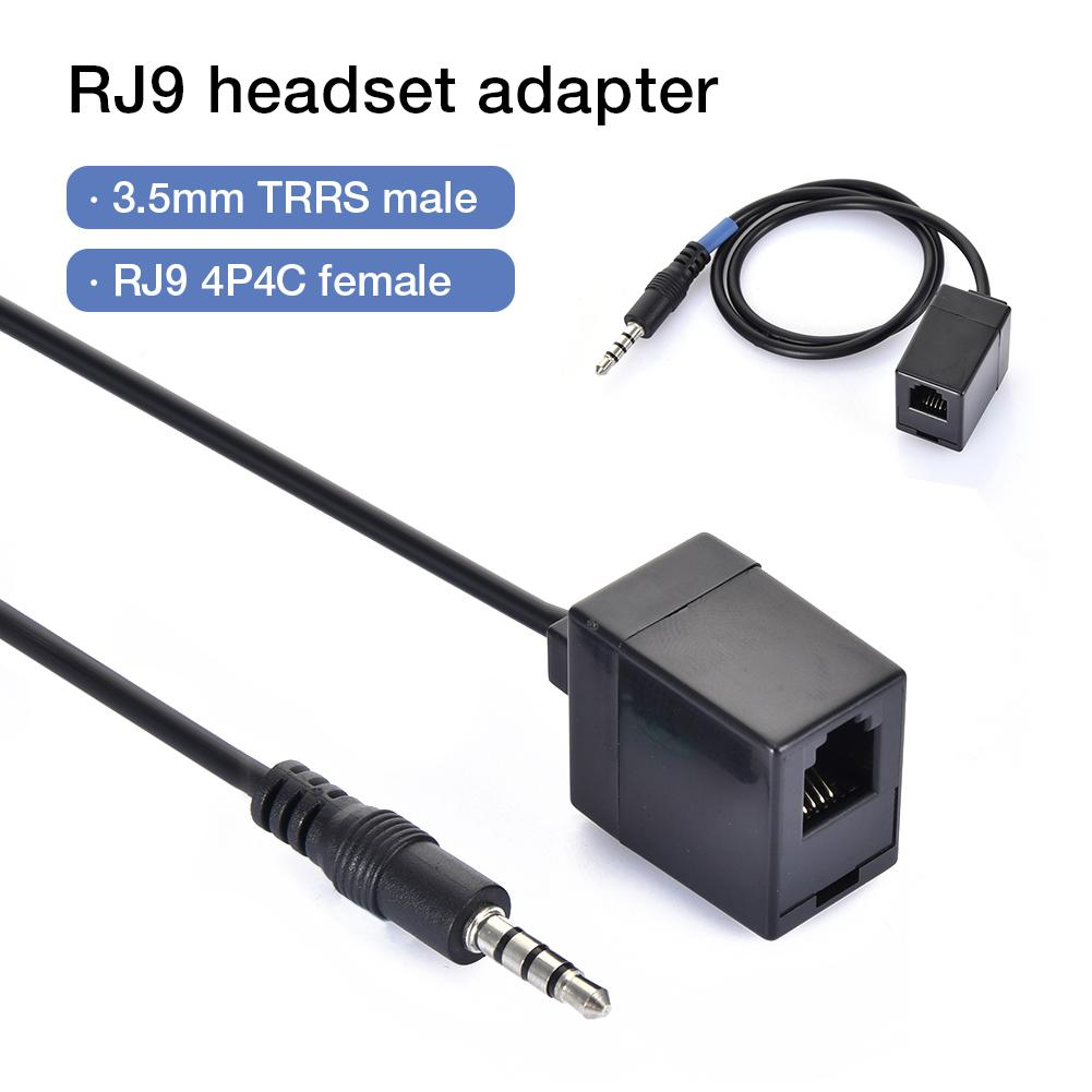 3 5MM TRRS Revolution RJ9 Telephone Wiring 4P4C Headset Converter Female  Extension Phone Cable RJ9 To 3 5MM Adapter