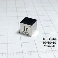 Free shipping iridium metal 10mm cube periodic element ingot 99.95% purity Ir element periodic table