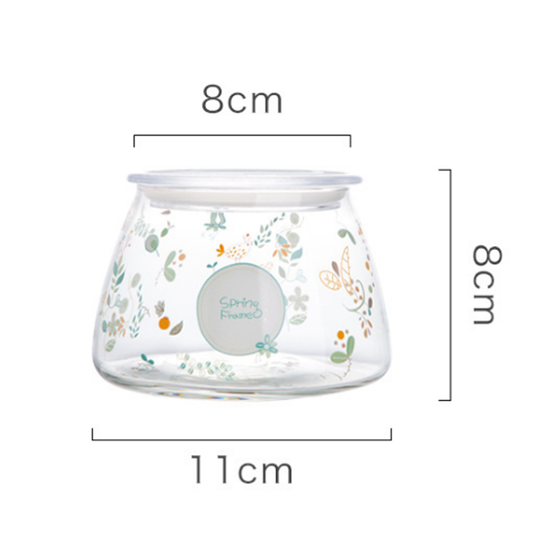 iTECHOR Glass Sealed Can Storage Jar Storage Bottle Flower Tea Pot ...