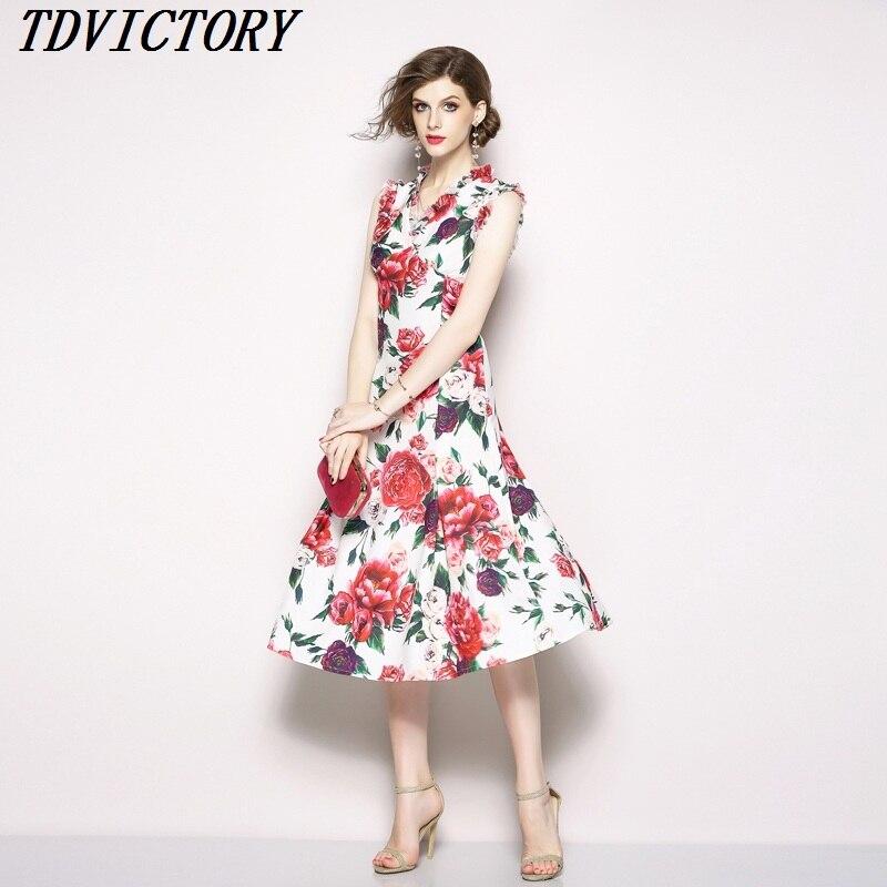 Sirène Nouvelle Robe Sans Longue Manches Parti Papillon Floral As Designer Piste 2018 En Femmes Imprimé D'été Col Ruffles V Picture Pivoine wTcpqE1